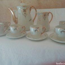 Antigüedades: JUEGO DE CAFÉ PORCELANA. Lote 243568690