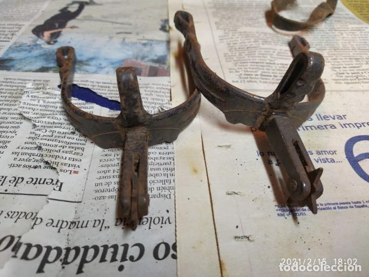 Antigüedades: Super lote de herrajes de caballo. - Foto 12 - 243617060