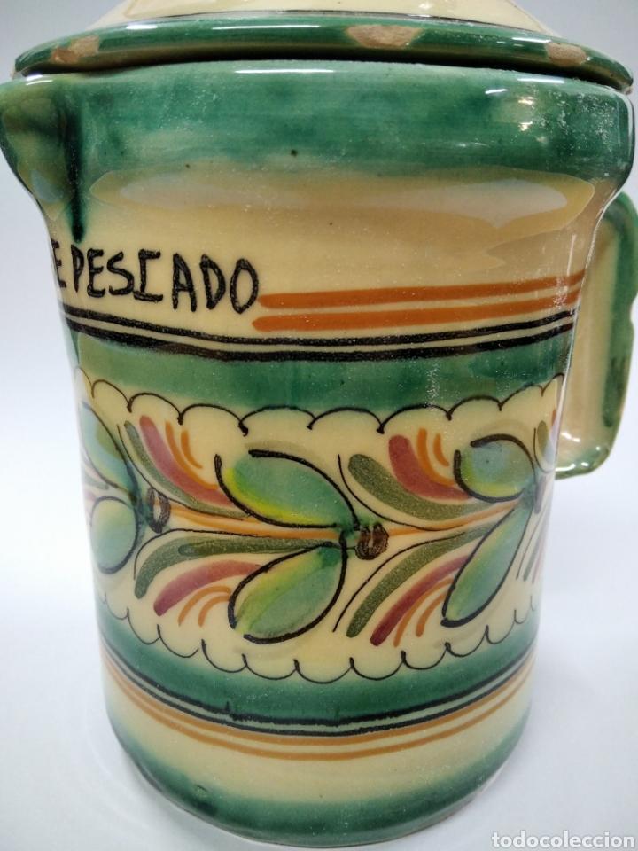 Antigüedades: Cerámica Puente del Arzobispo jarra cocina - Foto 2 - 243625165