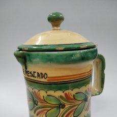 Antigüedades: CERÁMICA PUENTE DEL ARZOBISPO JARRA COCINA. Lote 243625165
