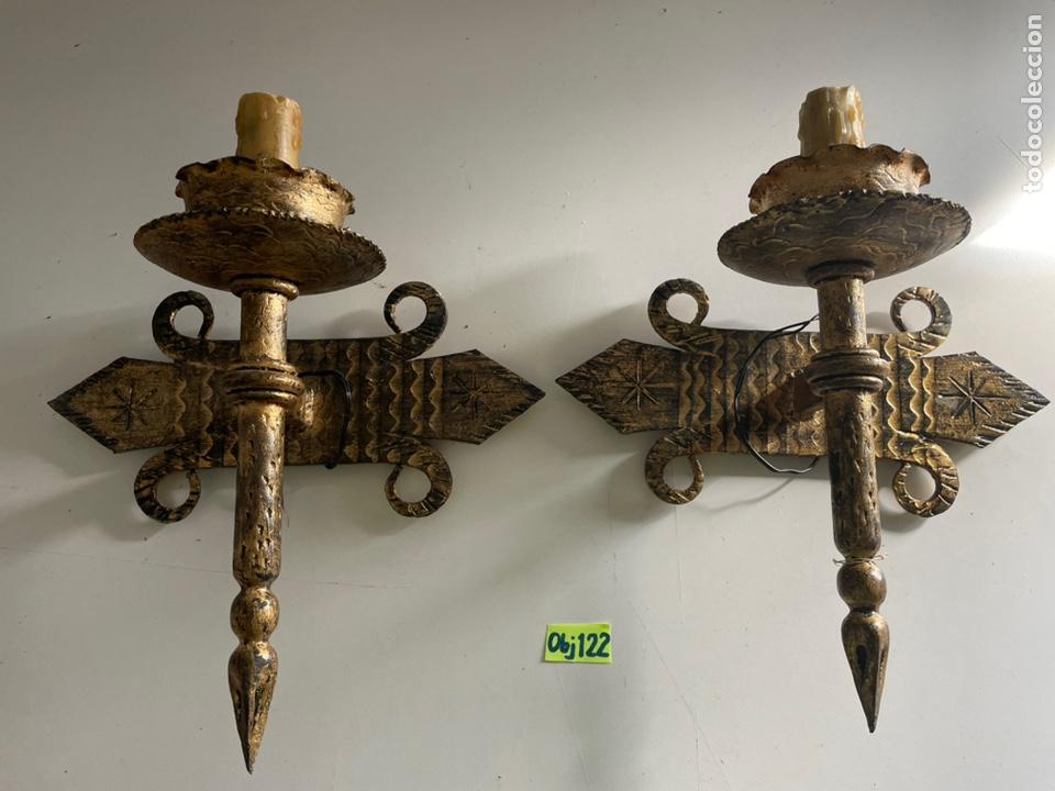 ANTIGUOS APLIQUES (Antigüedades - Iluminación - Apliques Antiguos)