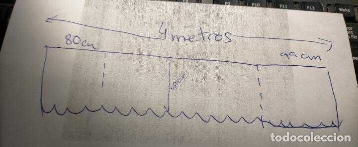Antigüedades: ANTIGUO PAÑO DE ALTAR RETABLO ENCAJE PUNTO DE RED 400 X 49 CM IDEAL SEMANA SANTA VIRGEN LEER - Foto 10 - 243661535