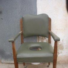 Antigüedades: SILLON DON PEDRO ( WC ). Lote 243687575