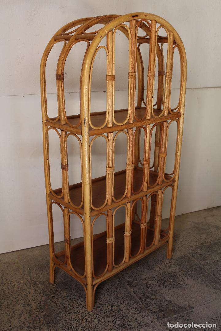 Antigüedades: estanteria vintage de bambú - Foto 2 - 243769705