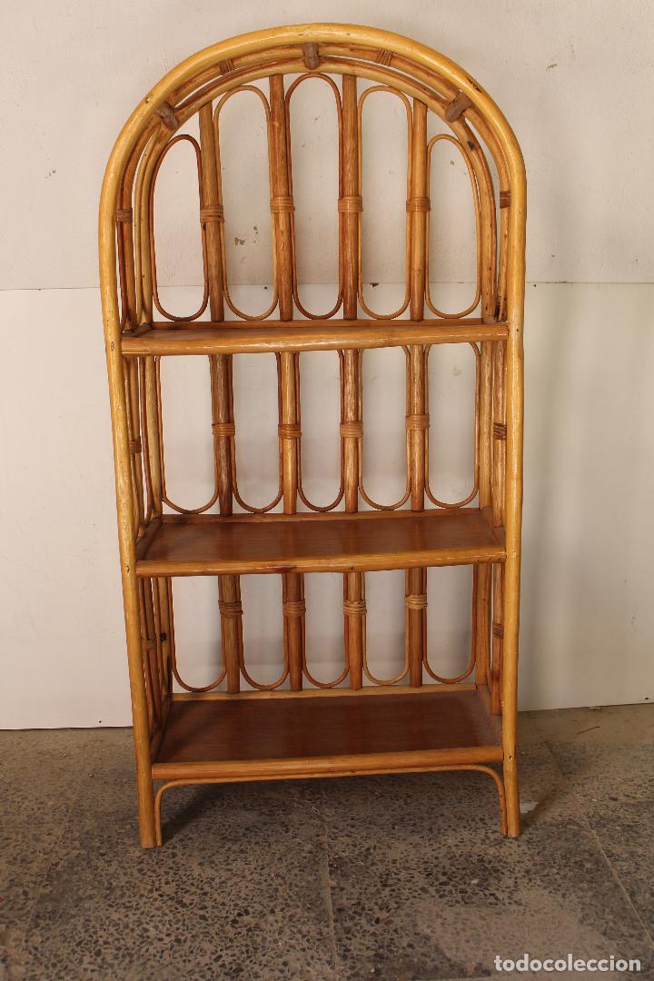 Antigüedades: estanteria vintage de bambú - Foto 3 - 243769705