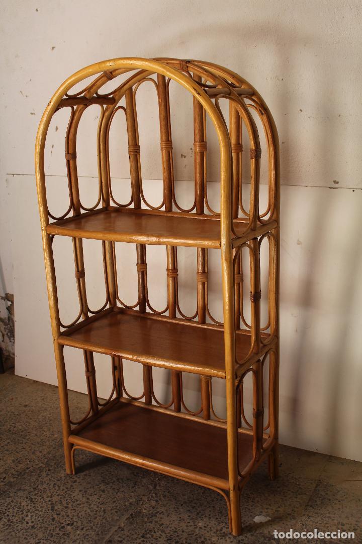 Antigüedades: estanteria vintage de bambú - Foto 5 - 243769705