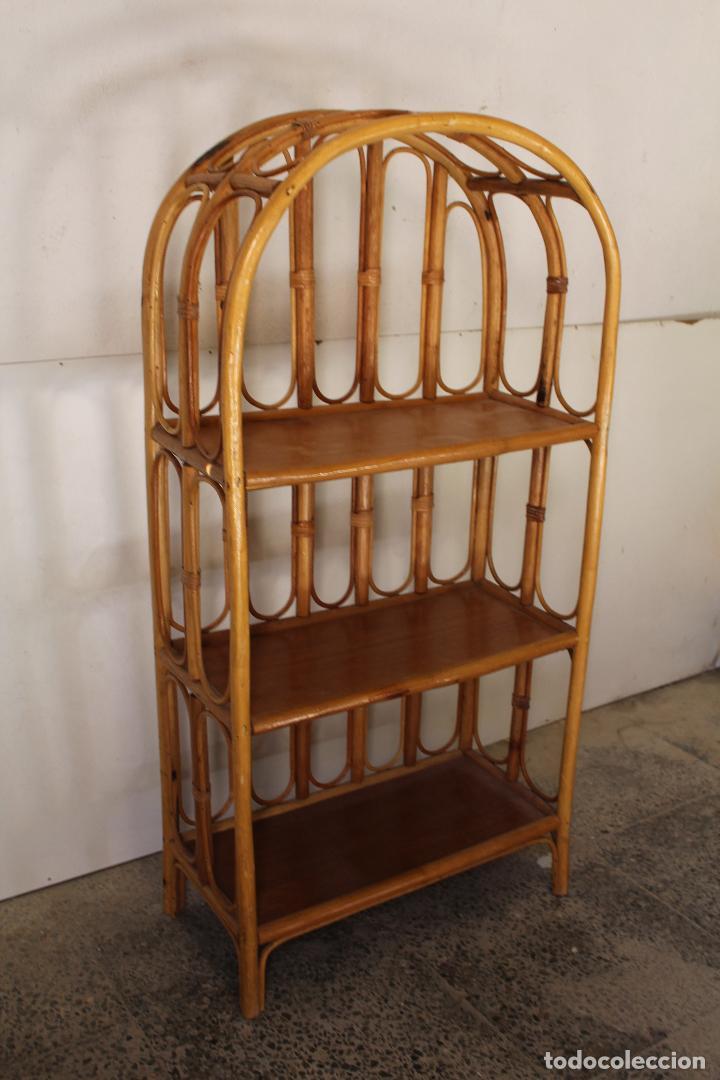 Antigüedades: estanteria vintage de bambú - Foto 6 - 243769705