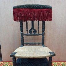 Antigüedades: ANTIGUA SILLA RECLINATORIO EN MADERA DE HAYA. PF. Lote 243770550