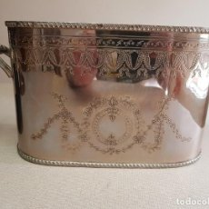 Antiquités: ANTIGUA CUBITERA AÑOS 50 ALPACA PLATEADA. Lote 243806360
