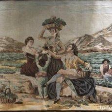 Antigüedades: PAREJA DE TAPICES DE GOYA. Lote 243808865