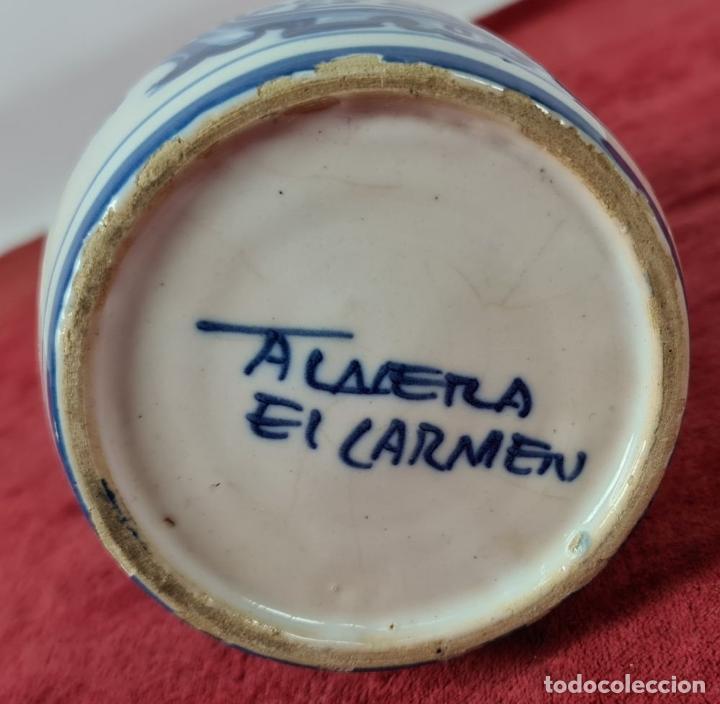 Antigüedades: JARRA DE VINO. CERÁMICA ESMALTADA. PINTADA A MANO. EL CARMEN. TALAVERA. SIGLO XX - Foto 8 - 243814340