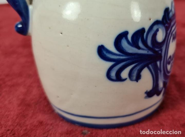 Antigüedades: JARRA DE VINO. CERÁMICA ESMALTADA. PINTADA A MANO. EL CARMEN. TALAVERA. SIGLO XX - Foto 9 - 243814340