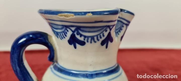 Antigüedades: JARRA DE VINO. CERÁMICA ESMALTADA. PINTADA A MANO. EL CARMEN. TALAVERA. SIGLO XX - Foto 10 - 243814340