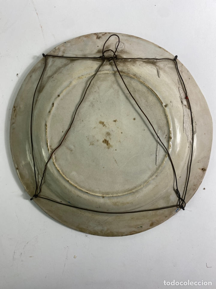 Antigüedades: PLATO DE CERAMICA, FINALES S.XVIII-S.XIX. - Foto 3 - 243817790