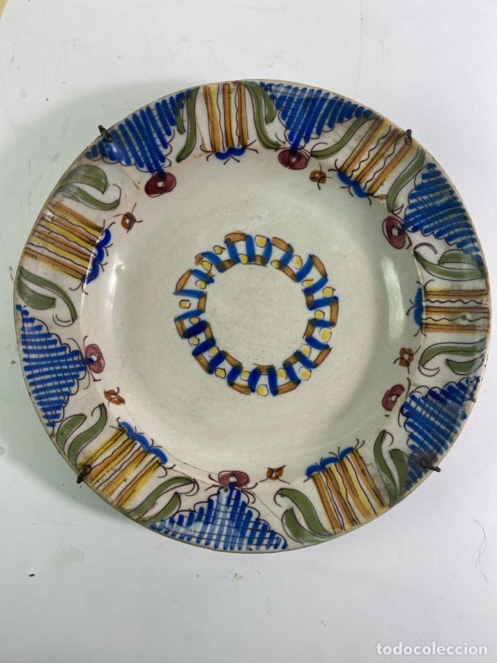 PLATO DE CERAMICA, FINALES S.XVIII-S.XIX. (Antigüedades - Porcelanas y Cerámicas - Otras)
