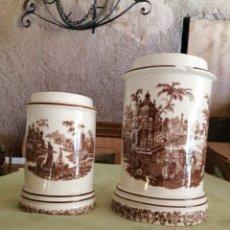 Antigüedades: 2 ALBARELOS-BOTES LA CARTUJA PICKMAN SEVILLA. Lote 243837035