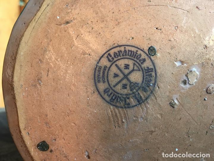 Antigüedades: Tarro de cocina orza ánfora en cerámica con sello Árabe San Isidro - Fajalauza Granada - 18x13 cm - Foto 6 - 243847080