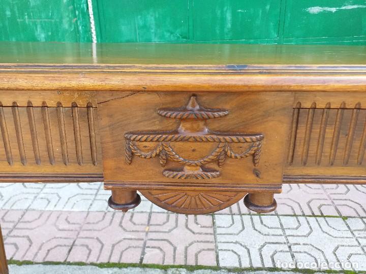 Antigüedades: Consola antigua estilo Luis XVI. Mesa auxiliar vintage estilo imperio modernista. - Foto 2 - 243883670