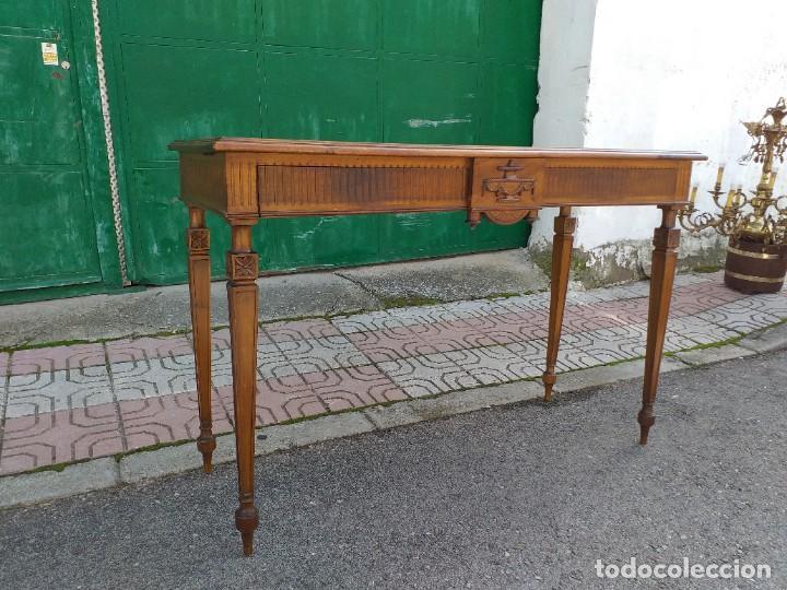 Antigüedades: Consola antigua estilo Luis XVI. Mesa auxiliar vintage estilo imperio modernista. - Foto 4 - 243883670