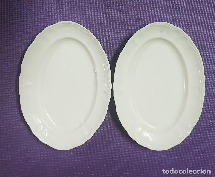 PAREJA DE BANDEJAS / FUENTES SAN CLAUDIO (Antigüedades - Porcelanas y Cerámicas - San Claudio)
