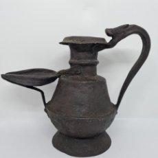 Antigüedades: DE COLECCION,MAGNIFICO CANDIL EN HIERRO FORJADO,S. XVIII. Lote 243915905