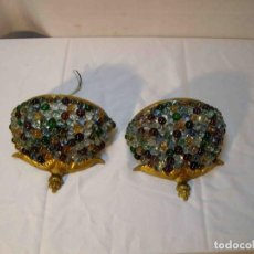 Oggetti Antichi: LAMPARA PARED BOLAS CRISTAL. Lote 243940955