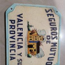 Oggetti Antichi: AZULEJO SEGUROS MUTUOS DE VALENCIA Y SU PROVINCIA. Lote 243946385