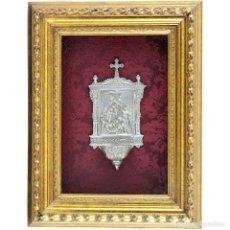 Antigüedades: BENDITERA DE PLATA FINA. SIGLO XIX. Lote 243952015