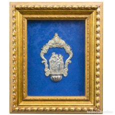 Antigüedades: BENDITERA EN PLATA ANTIGUA. Lote 243952105