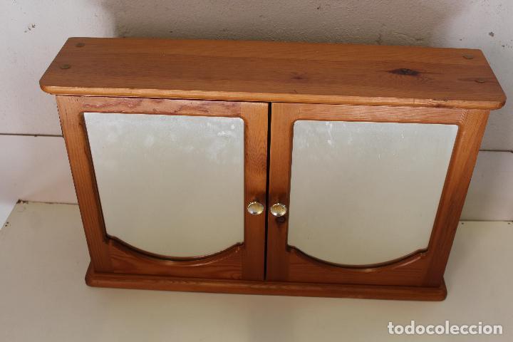 Antigüedades: armario repisa con espejo - Foto 2 - 243957385