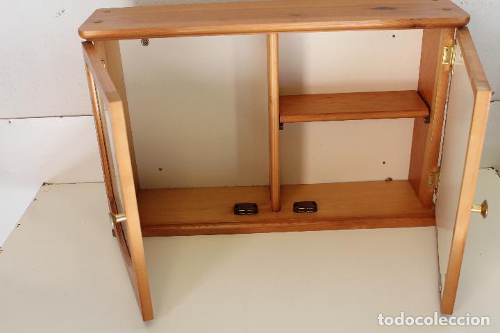 Antigüedades: armario repisa con espejo - Foto 3 - 243957385