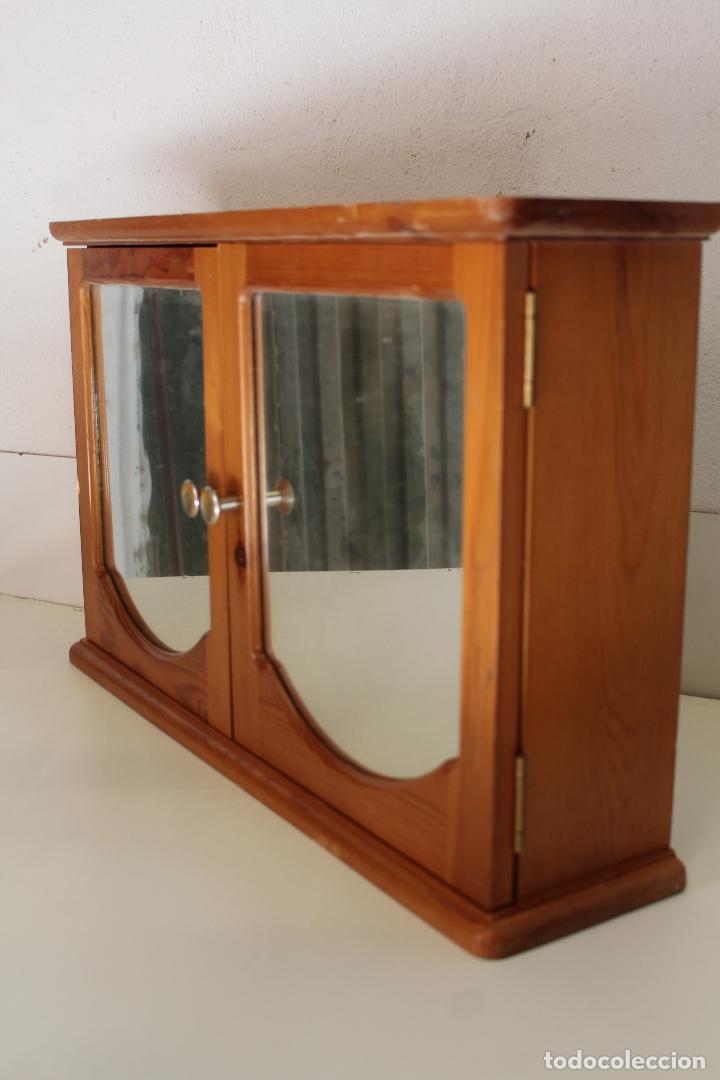 Antigüedades: armario repisa con espejo - Foto 5 - 243957385