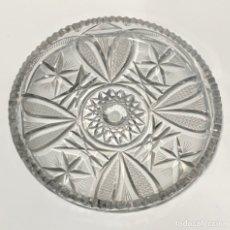 Antigüedades: FUENTE / PLATO DE CRISTAL CHECO DE BOHEMIA. Lote 243960195