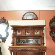 Antigüedades: MUEBLE APARADOR PLATERO MADERA DE NOGAL. Lote 243960390