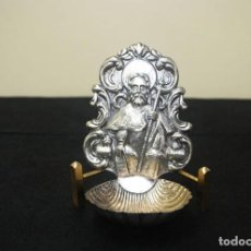 Antigüedades: BENDITERA DE SANTIAGO APÓSTOL. Lote 243968345