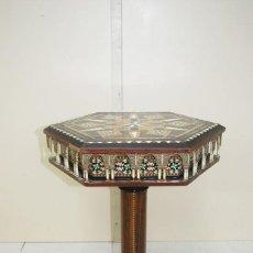 Antigüedades: MESA GRANADINA TABLERO EXAGONAL. Lote 243984610