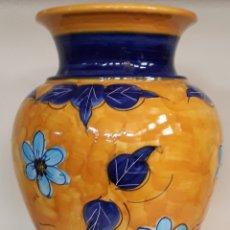 Antigüedades: JARRON GRANDE DECORADO FLORES. Lote 243987610