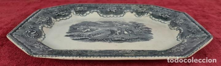 Antigüedades: BANDEJA DE PORCELANA ESMALTADA. CARTAGENA. SIGLO XIX. - Foto 2 - 244008740