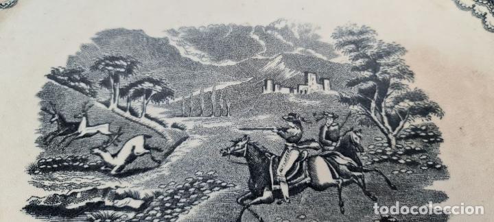 Antigüedades: BANDEJA DE PORCELANA ESMALTADA. CARTAGENA. SIGLO XIX. - Foto 4 - 244008740