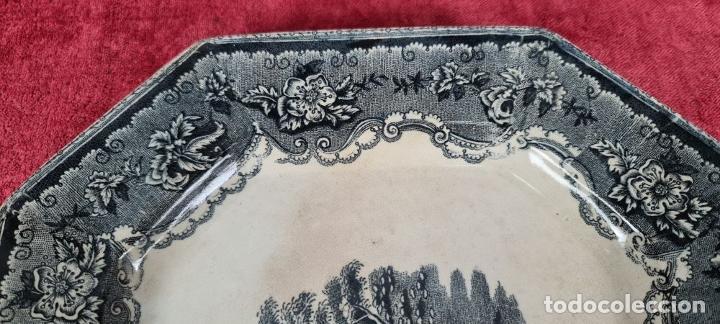 Antigüedades: BANDEJA DE PORCELANA ESMALTADA. CARTAGENA. SIGLO XIX. - Foto 5 - 244008740