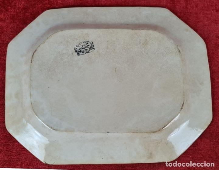 Antigüedades: BANDEJA DE PORCELANA ESMALTADA. CARTAGENA. SIGLO XIX. - Foto 6 - 244008740