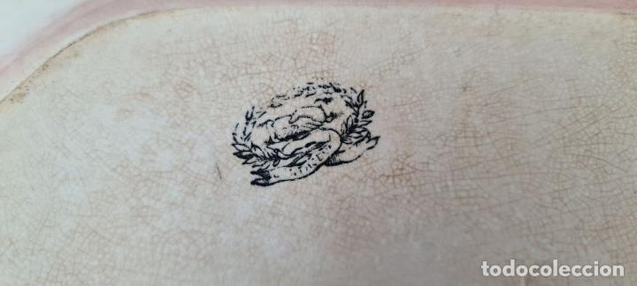 Antigüedades: BANDEJA DE PORCELANA ESMALTADA. CARTAGENA. SIGLO XIX. - Foto 8 - 244008740