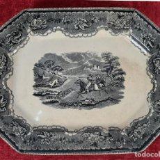 Antigüedades: BANDEJA DE PORCELANA ESMALTADA. CARTAGENA. SIGLO XIX.. Lote 244008740