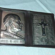 Antigüedades: ANTIGUO VIACRUCIS PABLO VI PAULUS VI CON FUNDA. Lote 244008930