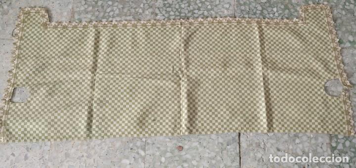 Antigüedades: 4 antiguas piezas de cortina y tapetes, o camino, cubre estanterías, muebles, bordados a mano,borlas - Foto 4 - 244012765