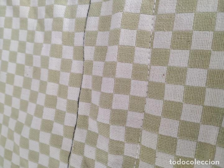 Antigüedades: 4 antiguas piezas de cortina y tapetes, o camino, cubre estanterías, muebles, bordados a mano,borlas - Foto 7 - 244012765