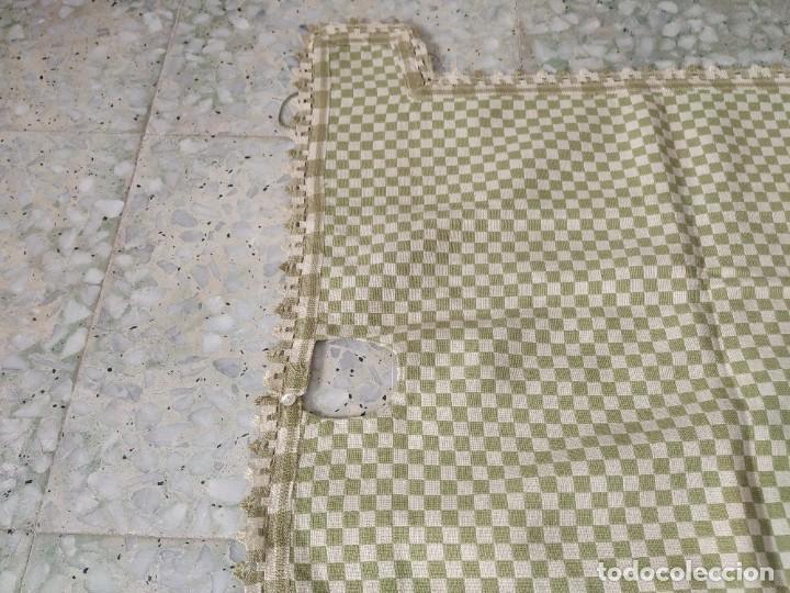 Antigüedades: 4 antiguas piezas de cortina y tapetes, o camino, cubre estanterías, muebles, bordados a mano,borlas - Foto 9 - 244012765