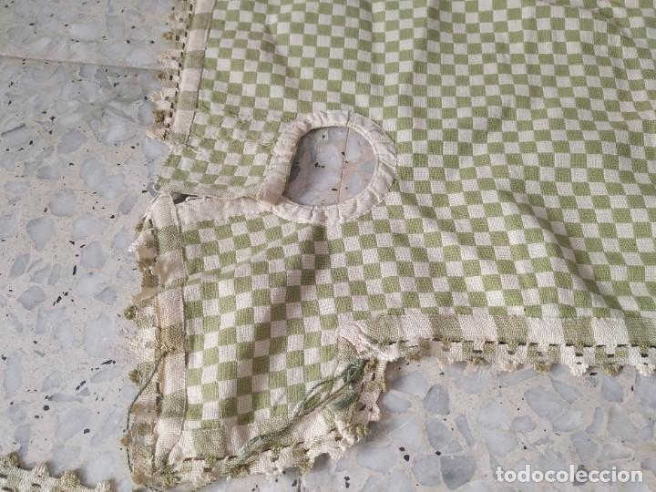 Antigüedades: 4 antiguas piezas de cortina y tapetes, o camino, cubre estanterías, muebles, bordados a mano,borlas - Foto 10 - 244012765