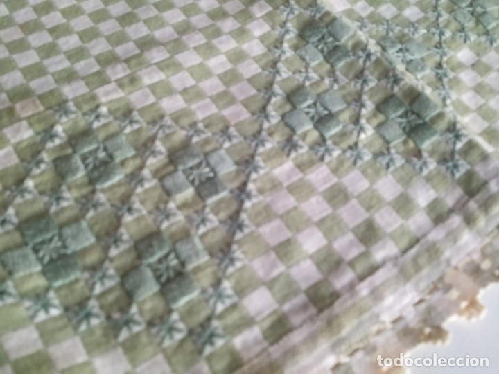 Antigüedades: 4 antiguas piezas de cortina y tapetes, o camino, cubre estanterías, muebles, bordados a mano,borlas - Foto 13 - 244012765