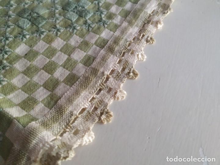 Antigüedades: 4 antiguas piezas de cortina y tapetes, o camino, cubre estanterías, muebles, bordados a mano,borlas - Foto 14 - 244012765